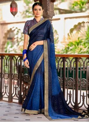 Blue Fancy Contemporary Saree