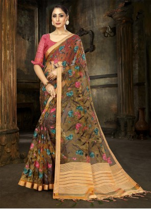 Multi Colour Fancy Designer Saree