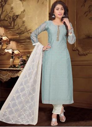 Blue Fancy Designer Suit