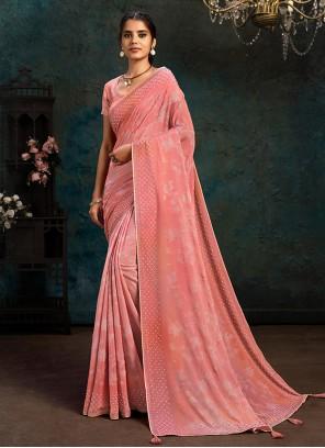 Fancy Designer Pink Traditional Saree
