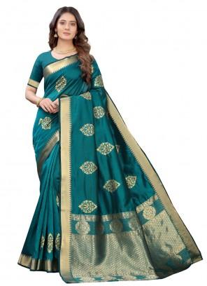 Rama Fancy Designer Traditional Saree