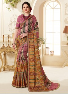 Fancy Fabric Abstract Print Printed Saree