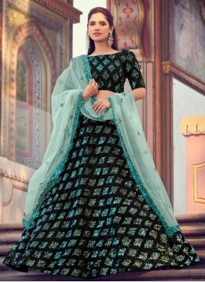 Fancy Fabric Black Lehenga Choli