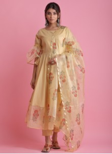 Fancy Fabric Block Print Readymade Suit