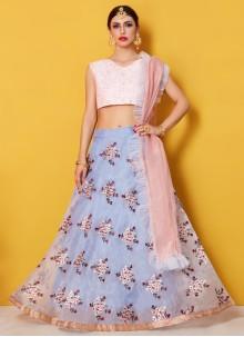 Fancy Fabric Blue Lehenga Choli