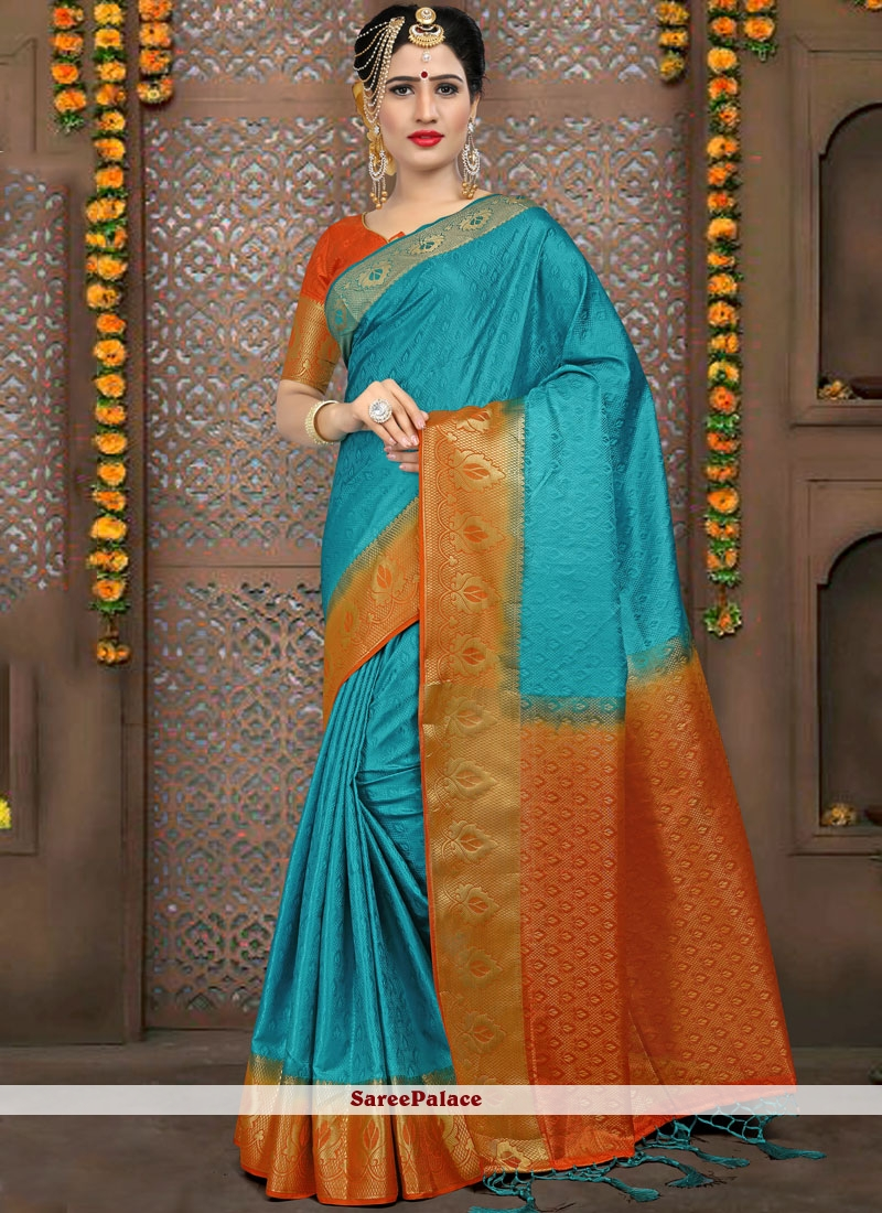 Fancy Fabric Blue Traditional Saree