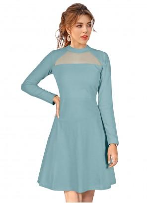 Fancy Fabric Blue Casual Kurti
