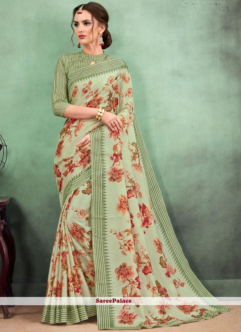 Fancy Fabric Casual Saree in Multi Colour