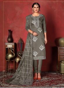 Fancy Fabric Ceremonial Churidar Designer Suit