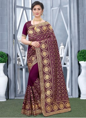 Fancy Fabric Ceremonial Designer Traditional Saree