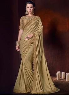 Fancy Fabric Classic Saree in Beige