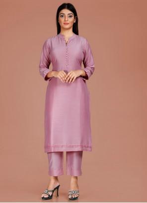 Fancy Fabric Designer Kurti in Lavender