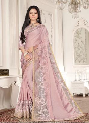 Fancy Fabric Designer Saree in Lavender
