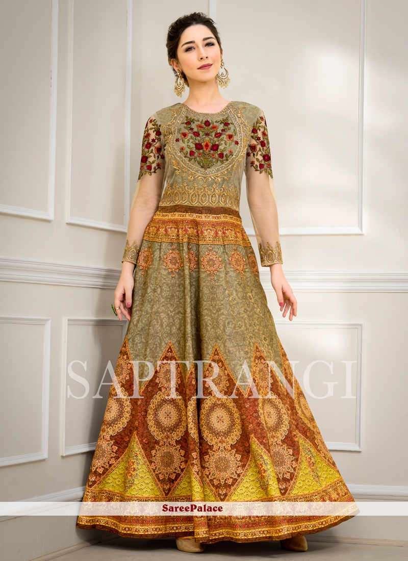 85dbf562d6b Buy Fancy Fabric Embroidered Designer Gown Online