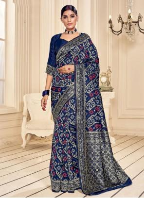 Blue Fancy Fabric Festival Classic Saree