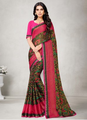 Fancy Fabric Festival Multi Colour Printed Saree