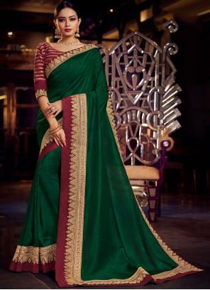 Fancy Fabric Green Classic Saree