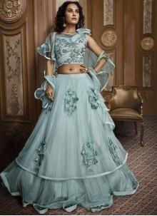Fancy Fabric Green Designer Lehenga Choli