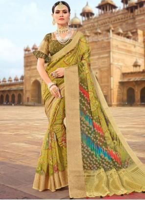 Fancy Fabric Green Traditional Designer Saree