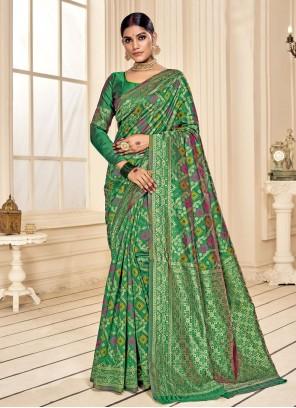 Fancy Fabric Green Trendy Saree