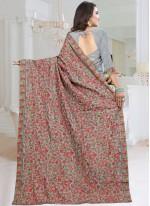 Fancy Fabric Grey Resham Classic Saree