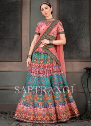 Fancy Fabric Lehenga Choli in Multi Colour