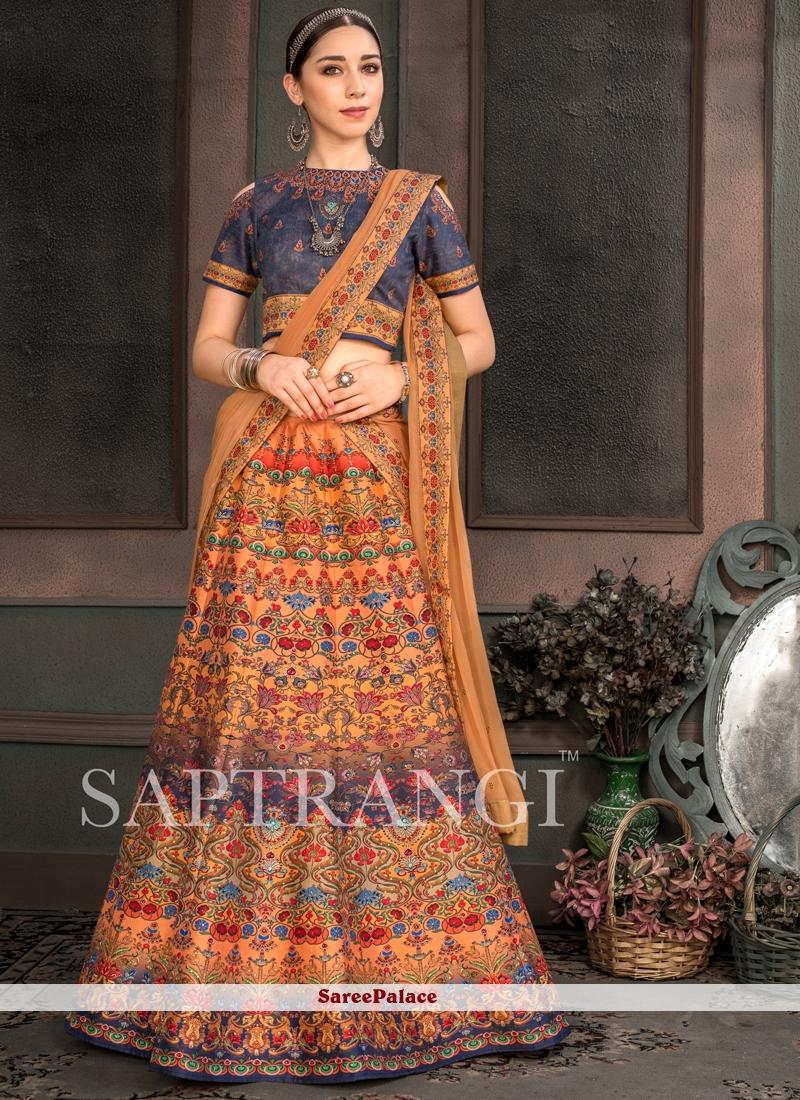 Fancy Fabric Mehndi Lehenga Choli