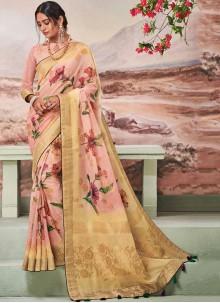 Fancy Fabric Multi Colour Fancy Traditional Designer Saree