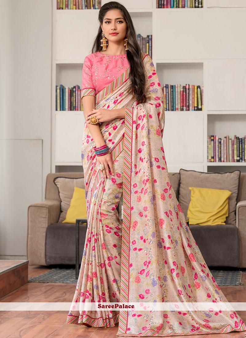 d738dd8b59 Buy Fancy Fabric Multi Colour Print Printed Saree Online