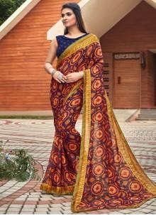 Fancy Fabric Multi Colour Saree