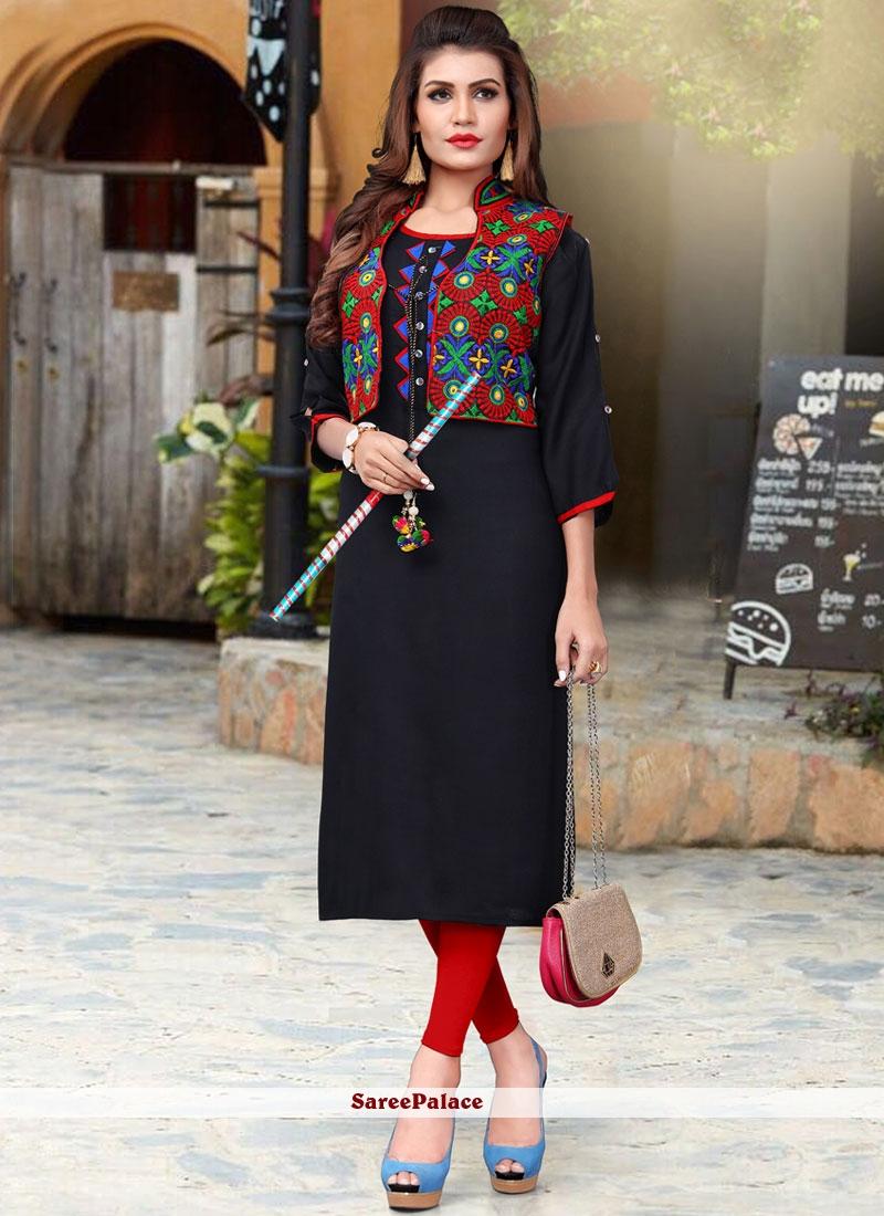e141fe0cd Buy Fancy Fabric Party Wear Kurti Online
