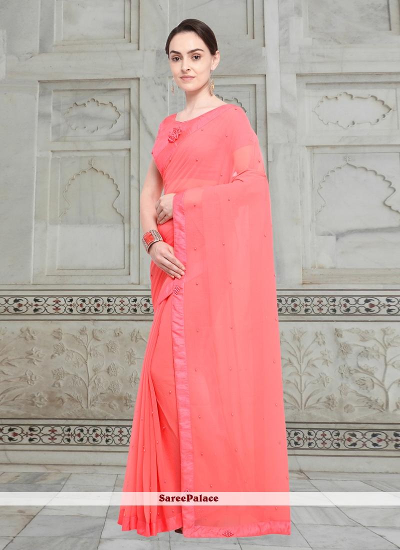 Fancy Fabric Pink Casual Saree