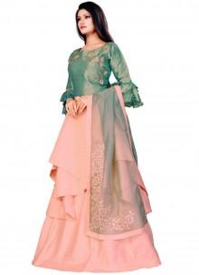 Fancy Fabric Pink Trendy Lehenga Choli
