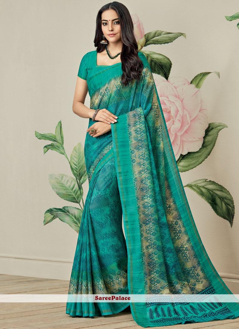 Fancy Fabric Printed Saree