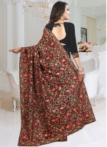 Fancy Fabric Resham Black Classic Saree