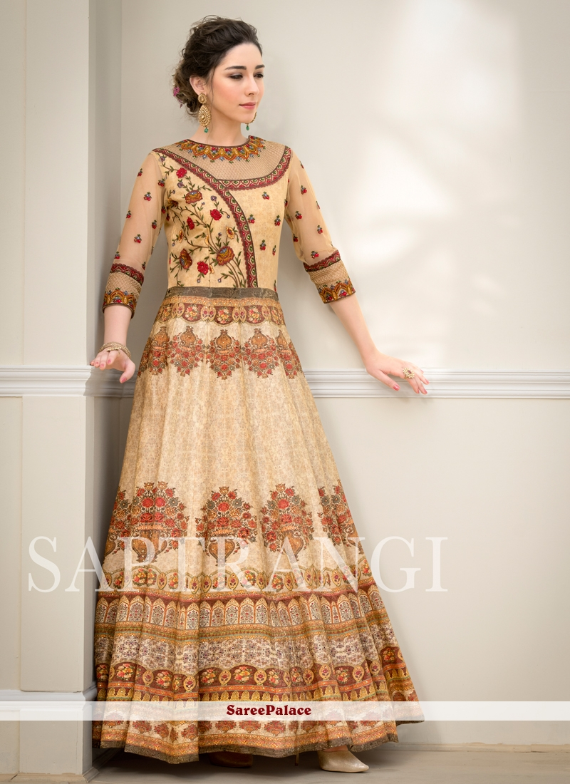 Fancy Fabric Resham Designer Gown