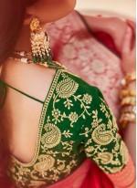 Fancy Fabric Weaving Designer Saree in Red