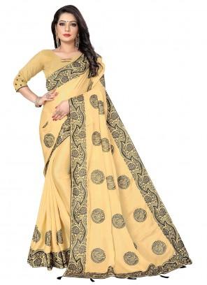 Fancy Fabric Yellow Designer Saree