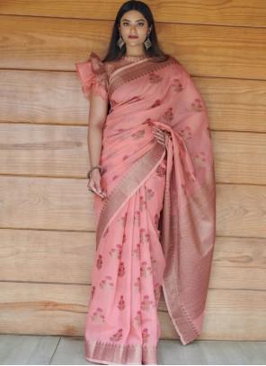 Pink Fancy Festival Classic Designer Saree