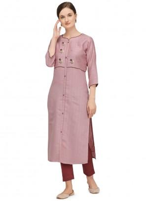 Fancy Festival Pink Designer Kurti