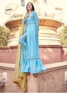 Blue Fancy Festival Designer Pakistani Salwar Suit