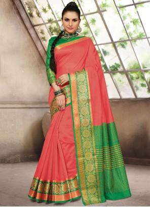 Pink Fancy Festival Designer Traditional Saree