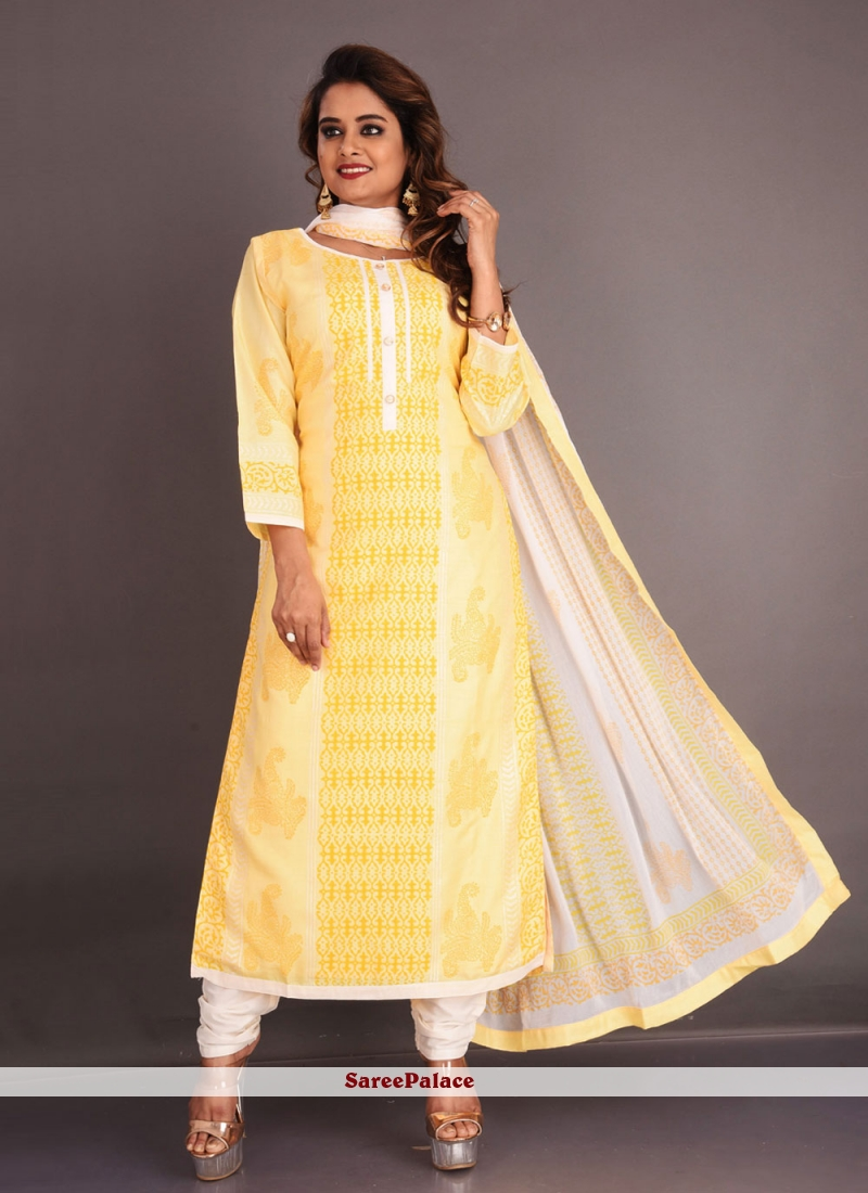 Yellow Fancy Festival Readymade Suit