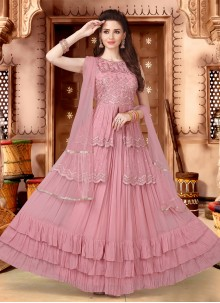 Fancy Georgette Pink Readymade Lehenga Choli
