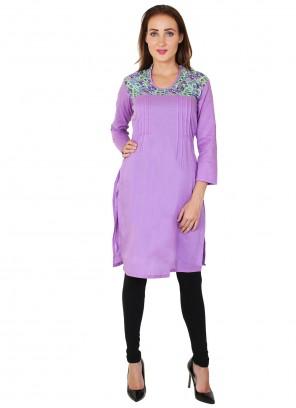 Purple Fancy Party Wear Kurti