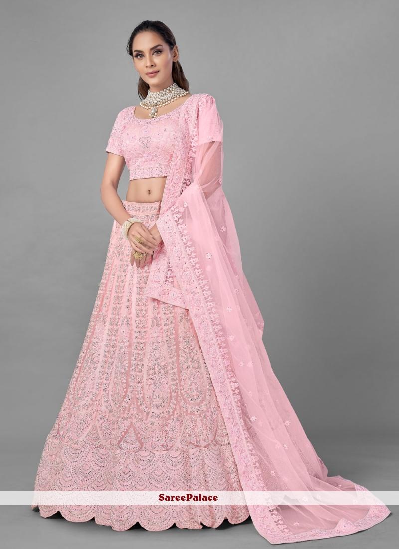 Fancy Pink Lehenga Choli