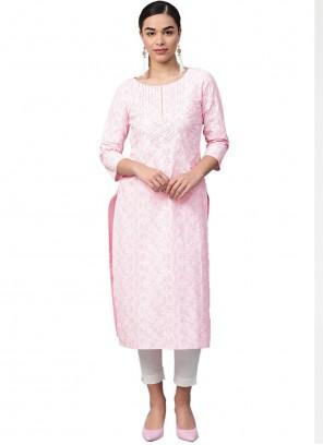 Fancy Pink Party Wear Kurti