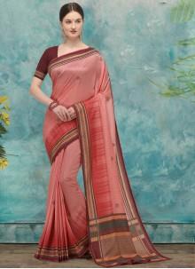 Fancy Pink Silk Traditional Saree
