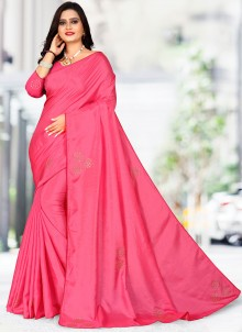 Fancy Pink Traditional Saree