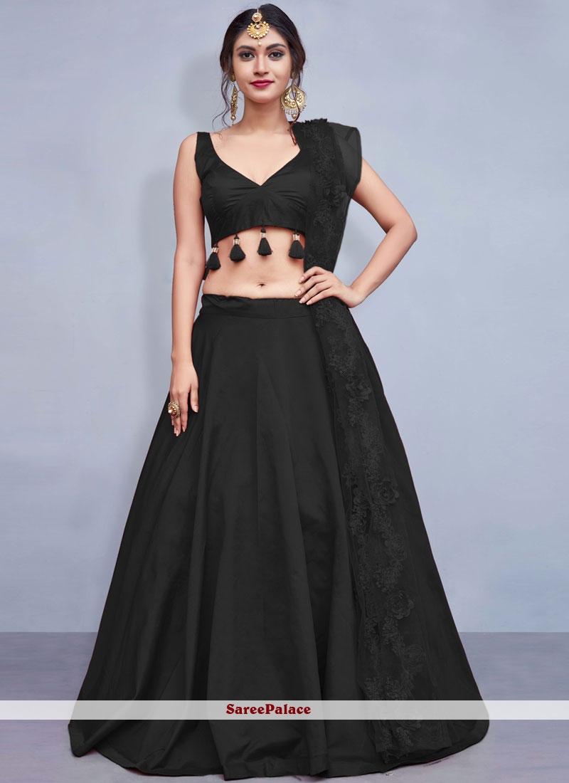 Black Fancy Readymade Lehenga Choli